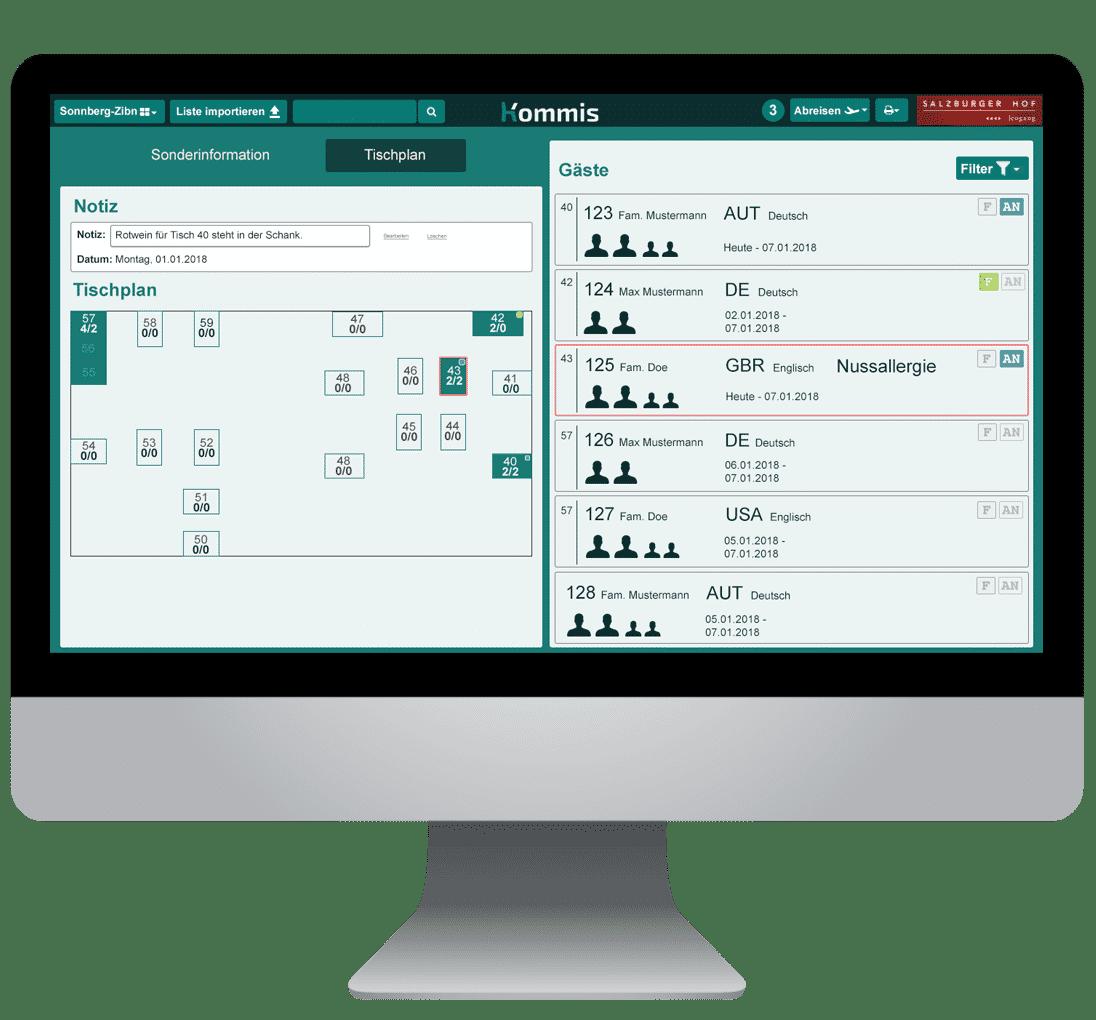 Kommis - digitaler Tischplan erstellen